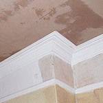 Ceiling replastered in Mellor